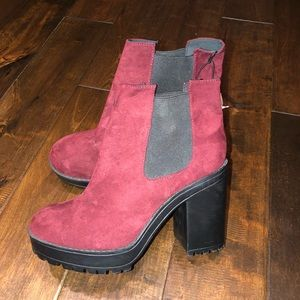Women's size 7 h&m heeled booties